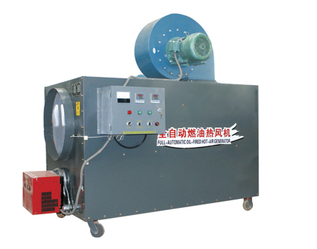 Oil-fired hot air blower for workshop and workshop